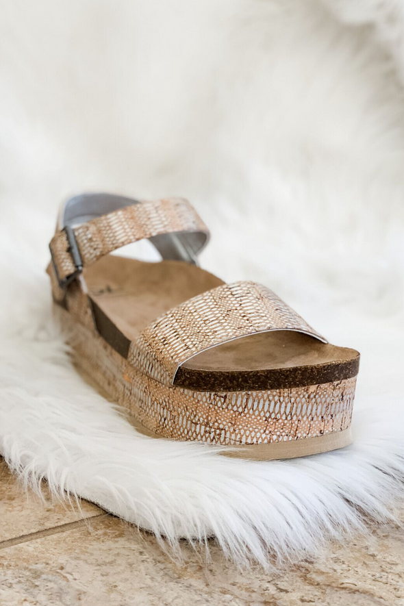 PALMS CORK WEDGE BY DIRTY LAUNDRY