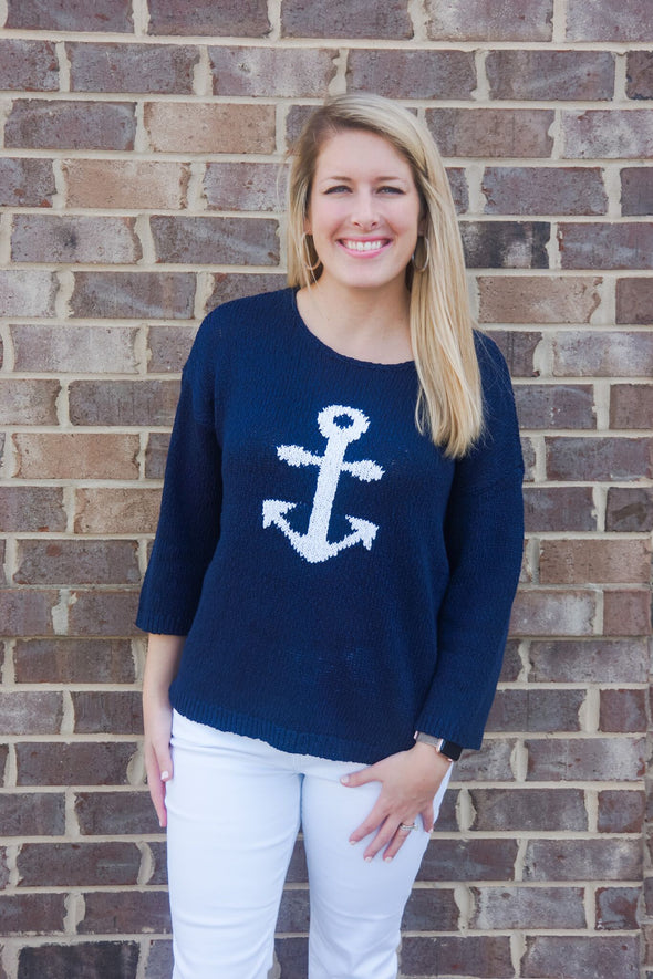 BOXY NAUTICAL SWEATER