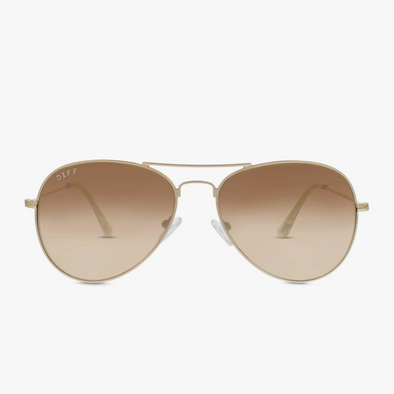 CRUZ AVIATOR - MATTE GOLD + BROWN GRADIENT