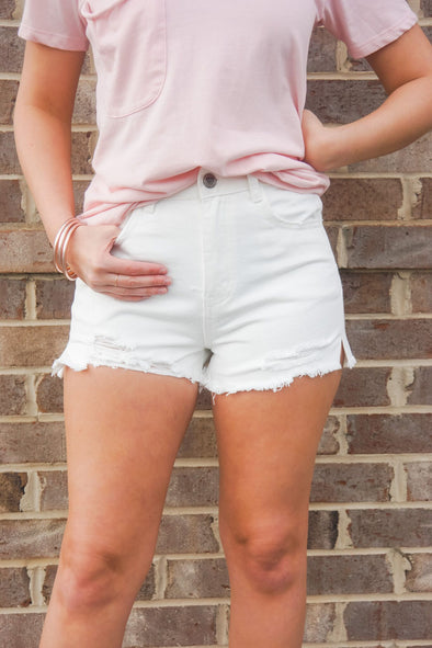 BUDDYLOVE DISTRESSED STONE SHORTS