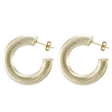 SHEILA FAJL SMALL IRENE GOLD HOOP EARRINGS