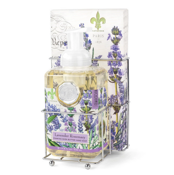 LAVENDAR ROSEMARY FOAMING SOAP & NAPKIN SET