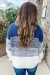 NAVY OMBRE RIBBED SWEATER