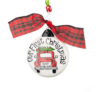 OUR FIRST CHRISTMAS CAR PUFF ORNAMENT