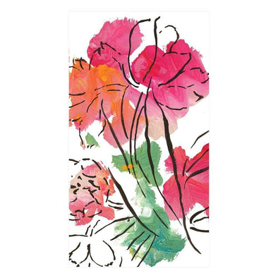 ABSTRACT FLORAL GUEST NAPKIN