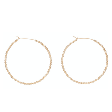 "BEADED GOLD 1.75"" HOOP, 2MM BEAD GOLD"