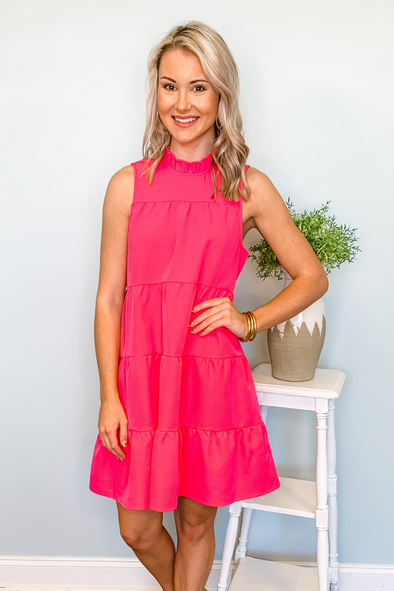 PINK NAT BOW BACK DRESS