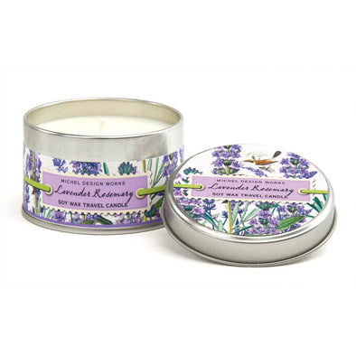 TRAVEL TIN CANDLE, LAVENDER ROSEMARY