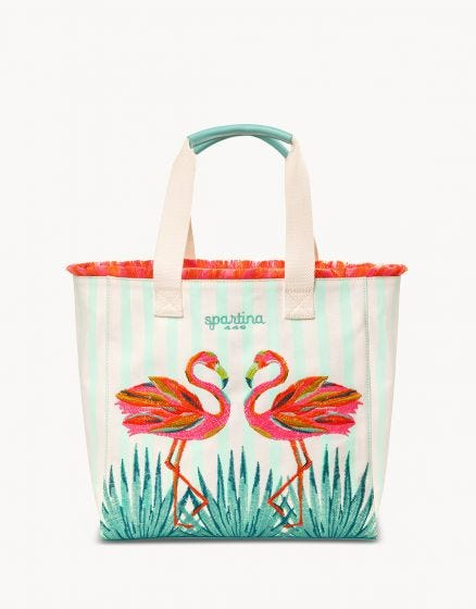 BEACH TOTE, MORELAND FLAMINGO