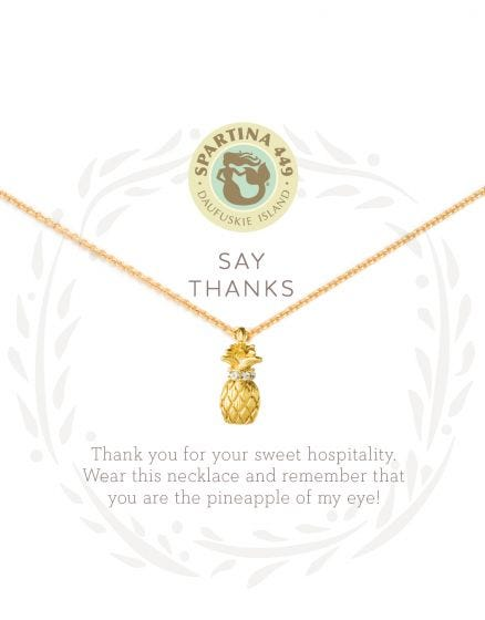 THANKS/PINEAPPLE SEA LA VIE NECKLACE