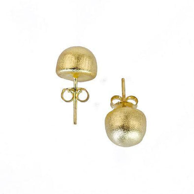 SHEILA FAJL LILOU BRUSHED GOLD STUD EARRING