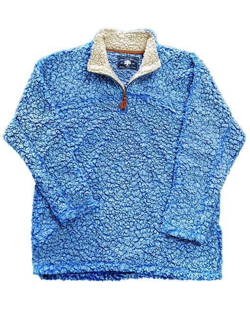 SHERPA PULLOVER IN POWDER BLUE