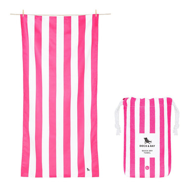 DOCK & BAY LARGE PHI PHI PINK TOWEL