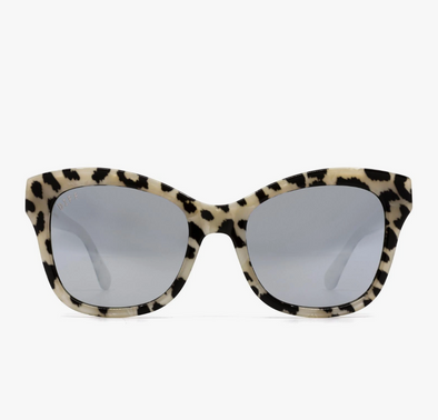 SKYLAR - NON POLARIZED CLEAR LEOPARD + GREY MIRROR
