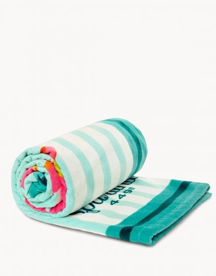 BEACH TOWEL, MORELAND FLAMINGO