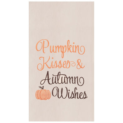 PUMPKIN KISSES & WISHES KITCHEN TOWEL