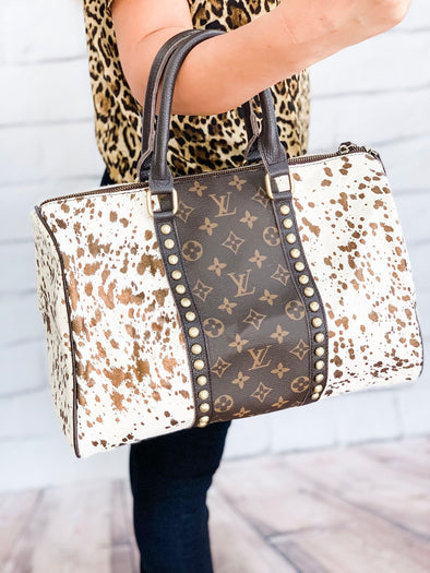 LOUIS VUITTON SPEEDY COW HIDE BAG