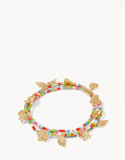 TROPICAL TRIPLE STRAND STRETCH BRACELET