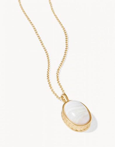 "WHITE 18"" NAIA OVAL NECKLACE"