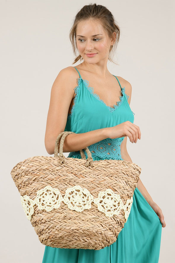 LACE LINED TOTE