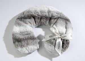 LAVENDER NECK PILLOW IN ANGORA PLATINUM