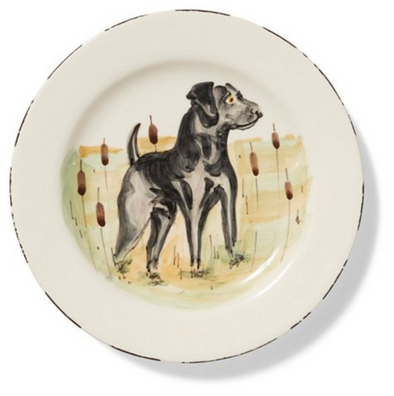 WILDLIFE BLACK LAB SALAD PLATE