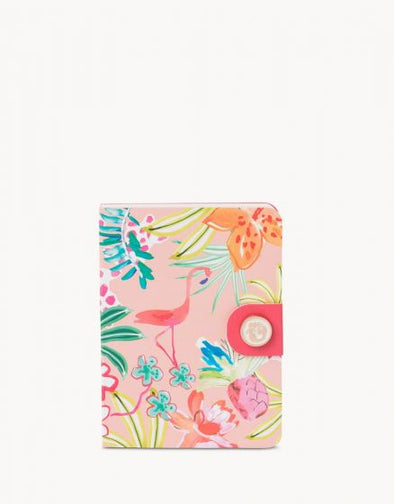 POCKET NOTEPAD, FLAMINGO FLORAL
