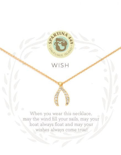WISHBONE SEA LA VIE NECKLACE