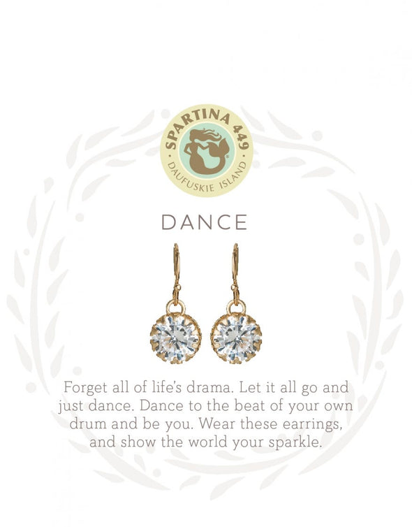 DANCE/GEM GOLD SEA LA VIE DROP EARRINGS