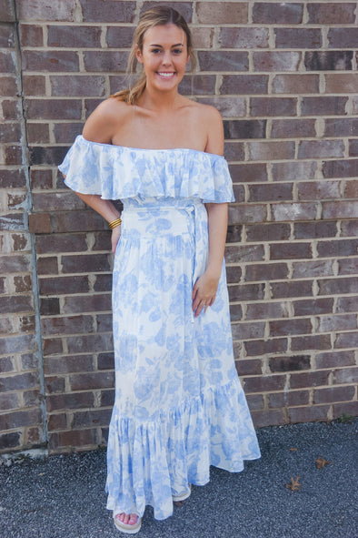 BUDDY LOVE HEATHER RUFFLE MAXI