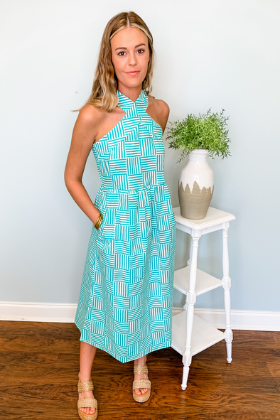 GREEN LINE BY LINE ARDEN DRESS