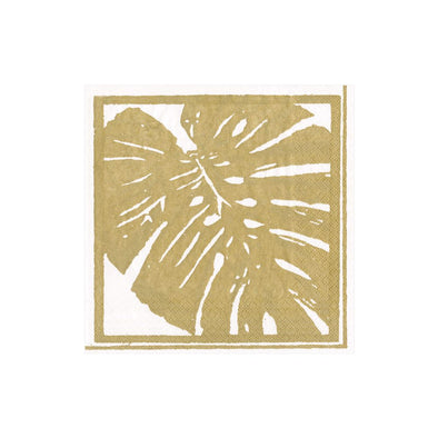 GOLD PALM LEAVES PAPER COCKTAIL NAPKINS