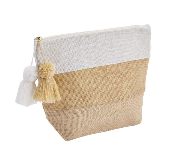 TAN COLOR BLOCK JUTE CASE