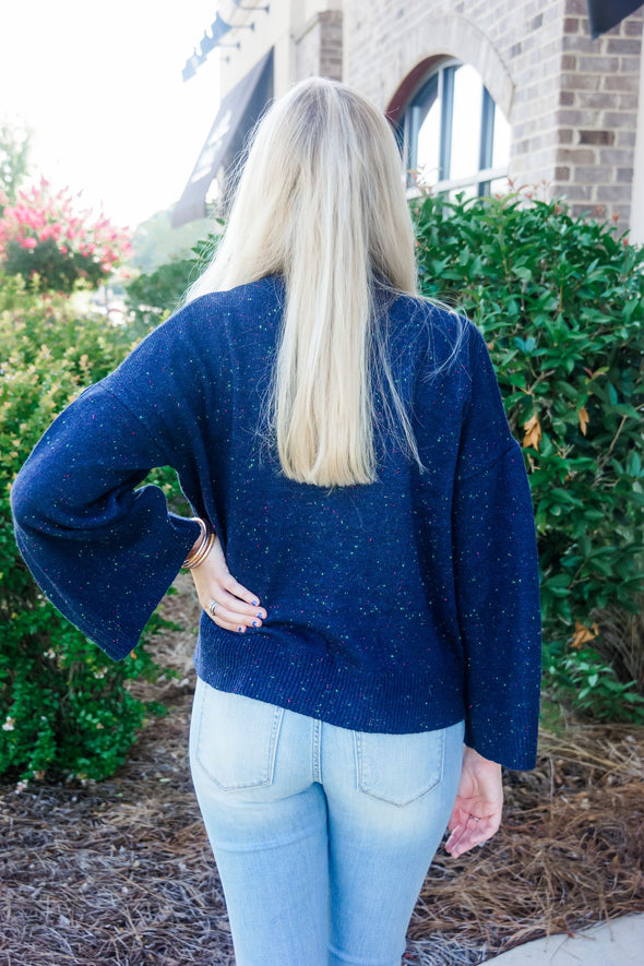 WILLA NAVY TURTLENECK SWEATER