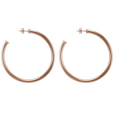 SHEILA FAJL EVERYBODY'S FAVORITE HOOP EARRINGS IN BRUSHED CHAMPAGNE