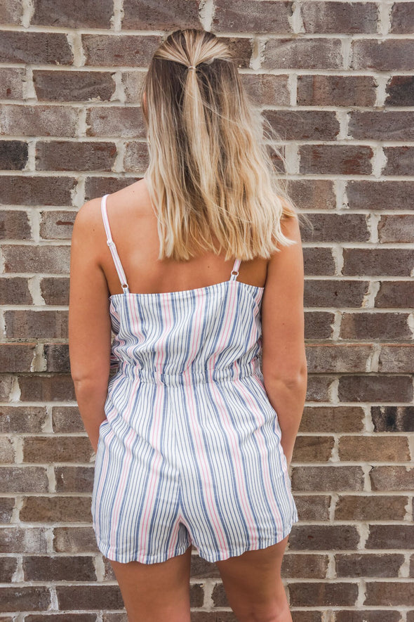 JACK NICE LINES STRIPED ROMPER