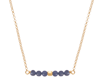 "16"" NECKLACE GOLD- BLISSFUL SODALITE"