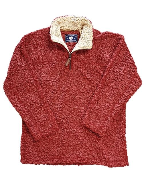 SHERPA PULLOVER IN CRANBERRY