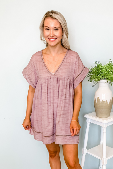 RED BEAN TRIM DETAIL ROMPER