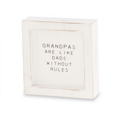 GRANDPA WOODEN PLAQUE