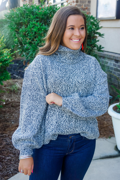 AUDREY GREY TURTLENECK SWEATER