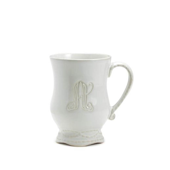 "LEGADO ENGRAVED ""B"" MUG - WHITE"