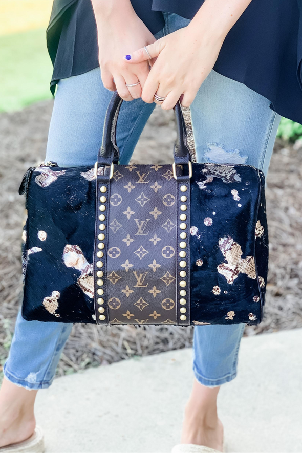 LOUIS VUITTON GRUNGE BLACK GIRLS NIGHT TOTE