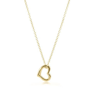 "16"" NECKLACE GOLD, LOVE CHARM"