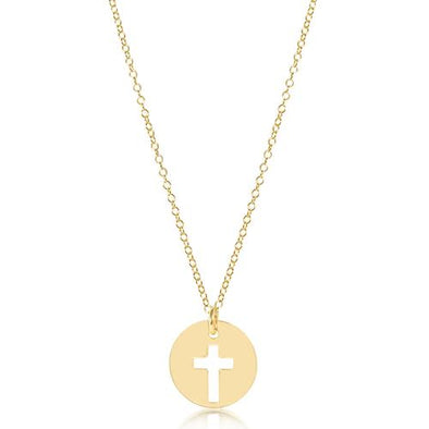 "16"" NECKLACE, BLESSED CHARM"