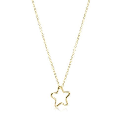 "16"" NECKLACE GOLD, STAR CHARM"