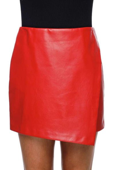 MADONNA ENVELOPE SKIRT - WINE