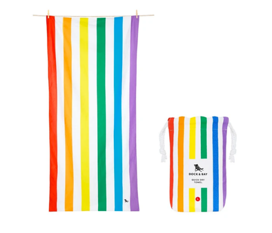 DOCK & BAY LARGE RAINBOW SKIES TOWEL