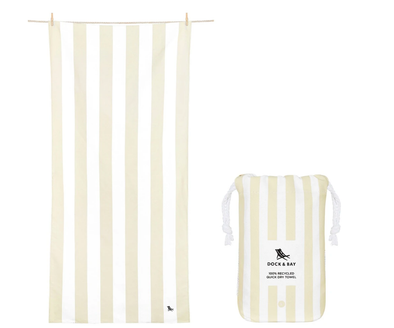 DOCK & BAY LARGE BORA BORA BEIGE TOWEL