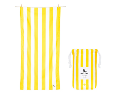 DOCK & BAY LARGE BORACAY YELLOW TOWEL